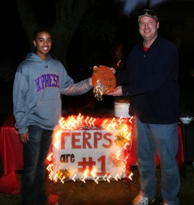 Chase Coleman and Tim Reedy won the People's Choice Award at Gamma Phi Beta's 16th Annual Chili Cook-off on Sunday, Oct. 25, 2009 in Athens, Ga. Teams competed at the cook-off for the first, second and third place Best Tasting Chili Award, the People's Choice Award and the Most Creative Table Décor Award.
